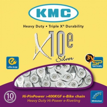 Lan  KMC X10E 10 speed e-bike 1 2 x 11 128 114L