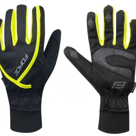 Manusi iarna Force Ultra Tech negru/fluo XL