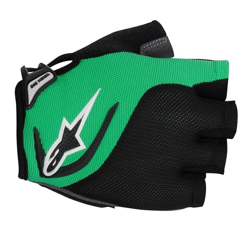 Manusi Alpinestars Pro-Light Short Finger black bright green XXL