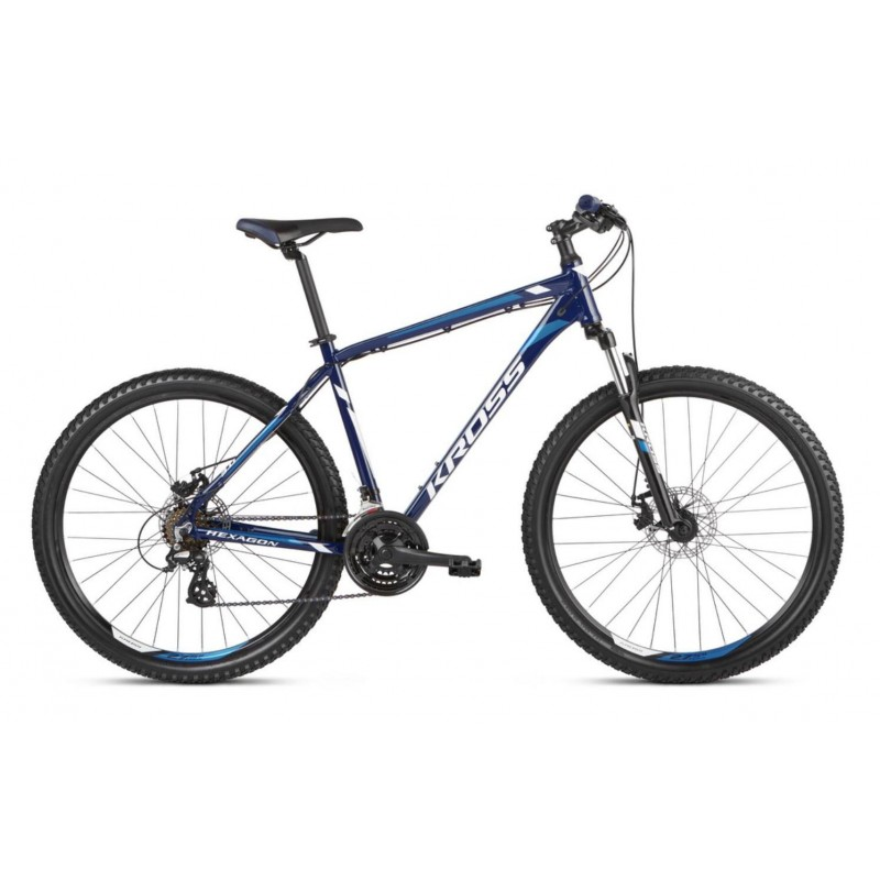 "Bicicleta Kross Hexagon 3.0 26"" 2021 navy/albastru/alb"
